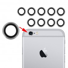10 Pairs for iPhone 6 & 6s Rear Camera Lens with Bezel(Silver)