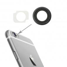 10 Pairs / Set Rear Camera Lens Ring + Flashlight Bracker for iPhone 6 Plus & 6s Plus (Grey)