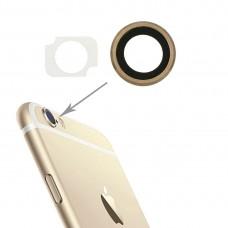 10 Pairs / Set Rear Camera Lens Ring + Flashlight Bracker for iPhone 6 Plus & 6s Plus (Gold)