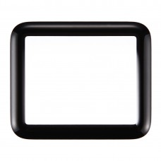 Front Screen Outer Glass Lens for Apple Watch Series 1 38mm(Black)