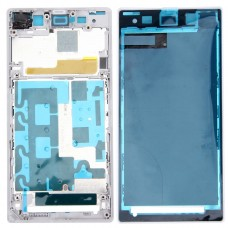 Front Housing LCD Frame Bezel Plate  for Sony Xperia Z1 / C6902 / L39h / C6903 / C6906 / C6943(White)