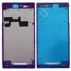 Front Housing LCD Frame Bezel Plate for Sony Xperia Z Ultra / XL39h / C6802(Purple)
