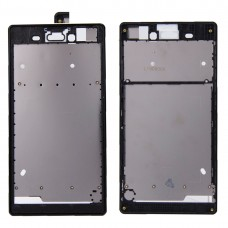 Front Housing  with Adhesive Sticker for Sony Xperia T3(Black)