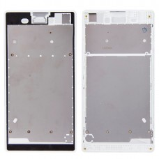 Front Housing  with Adhesive Sticker for Sony Xperia T3(White)