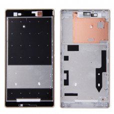 Front Housing  with Adhesive Sticker for Sony Xperia T2 Ultra(Gold)