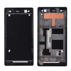 Front Housing  with Adhesive for Sony Xperia C3(Black)