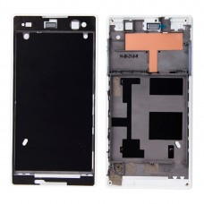 Front Housing  with Adhesive for Sony Xperia C3(White)