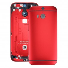 Back Housing Cover for HTC One M8(Red)