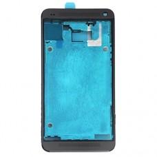 Front Housing LCD Frame Bezel Plate  for HTC One M7 / 801e(Black)
