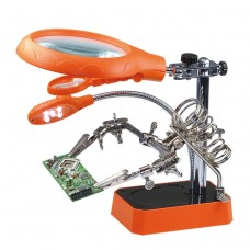 TE-800 2.5X 7.5X 10X Precision Electronic Components Maintenance Assistant Magnifier with 5 Led Light Adjustable Clamp