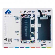 Magnetic Screws Mat For iPhone 6s Plus, Size: 24.9cm x 19.9cm