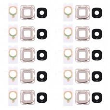10 PCS Back Camera Bezel & Lens Cover with Sticker for Galaxy C7(Pink)