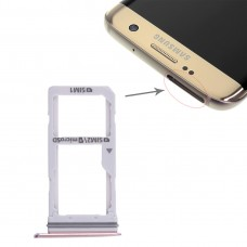 2 SIM Card Tray / Micro SD Card Tray for Galaxy S7 Edge(Pink)