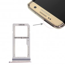2 SIM Card Tray / Micro SD Card Tray for Galaxy S7 Edge(Gold)