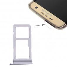 2 SIM Card Tray / Micro SD Card Tray for Galaxy S7 Edge(Blue)
