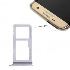 2 SIM Card Tray / Micro SD Card Tray for Galaxy S7 Edge(White)