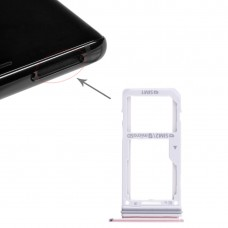2 SIM Card Tray / Micro SD Card Tray for Galaxy Note 8(Pink)