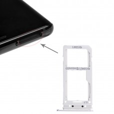2 SIM Card Tray / Micro SD Card Tray for Galaxy Note 8(Silver)