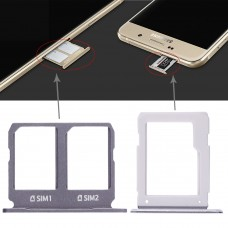 2 SIM Card Tray + Micro SD Card Tray for Galaxy A9100 / A9 (2016)(Black)