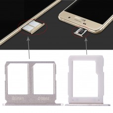 2 SIM Card Tray + Micro SD Card Tray for Galaxy A9100 / A9 (2016)(Gold)
