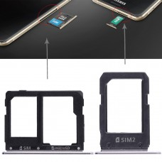 2 SIM Card Tray + Micro SD Card Tray for Galaxy A5108 / A7108(Grey)