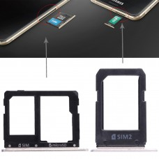 2 SIM Card Tray + Micro SD Card Tray for Galaxy A5108 / A7108(Gold)