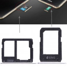 2 SIM Card Tray + Micro SD Card Tray for Galaxy A5108 / A7108(White)