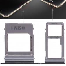 2 SIM Card Tray + Micro SD Card Tray for Galaxy A520 / A720(Black)