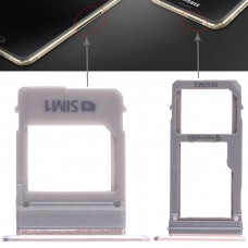 2 SIM Card Tray + Micro SD Card Tray for Galaxy A520 / A720(Pink)