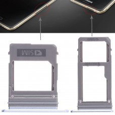 2 SIM Card Tray + Micro SD Card Tray for Galaxy A520 / A720(Blue)