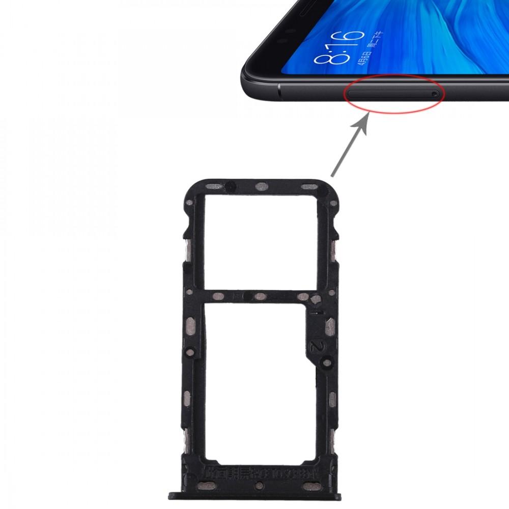 2 Sim Card Tray Micro Sd Card Tray For Xiaomi Redmi 5 Black