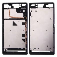 (Single SIM) Front Housing LCD Frame Bezel for Sony Xperia Z3(Black)