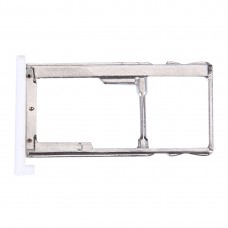 For Meizu M3 / Meilan 3 SIM + SIM / Micro SD Card Tray(White)