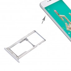 For Meizu M3 Note / Meilan Note 3 SIM + SIM / Micro SD Card Tray(Silver)