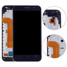 5.0 inch LCD Screen and Digitizer Full Assembly with Frame for Asus Zenfone Go ZB500KL X00AD(Black)