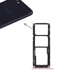 2 SIM Card Tray + Micro SD Card Tray for Asus ZenFone 4 Max ZC520KL(Rose Gold)