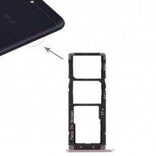2 SIM Card Tray + Micro SD Card Tray for Asus Zenfone 4 Max ZC554KL(Rose Gold)