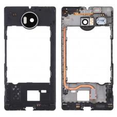 Middle Frame Bezel with Flashlight & Speaker Ringer Buzzer & Vibrating Motor for Microsoft Lumia 950 XL(Black)