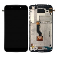 for Alcatel One Touch Idol 3 4.7 LTE / 6039 LCD Screen and Digitizer Full Assembly with Frame(Black)