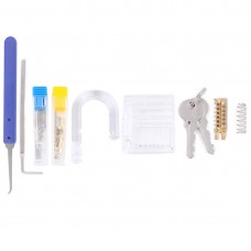 Accessories of Lock for DIY Assembling  Transparent Visible Padlock Lock Practice Padlock Lock with Key and All Tools