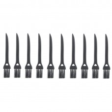 10 PCS JIAFA P8842 Flat Head Shrill Tail Cleaning Brush, Length: 8.5cm(Black)