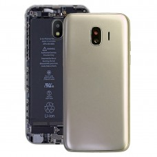 Back Cover + Middle Frame Bezel Plate for Galaxy J2 Pro (2018), J2 (2018), J250F/DS(Gold)