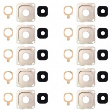 10 PCS Back Camera Bezel & Lens Cover with Sticker for Galaxy A8 (2016) / A810(Gold)