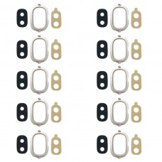 10 PCS Back Camera Bezel with Lens Cover & Adhesive for Galaxy J4, J400F/DS, J400G/DS (Gold)