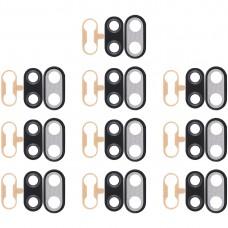 10 PCS Back Camera Bezel with Lens Cover & Adhesive for Huawei Nova 3i(Black)