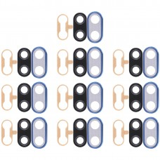 10 PCS Back Camera Bezel with Lens Cover & Adhesive for Huawei Nova 3i(Blue)
