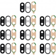 10 PCS Back Camera Bezel with Lens Cover & Adhesive for Huawei P20 Lite (Black)