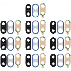 10 PCS Back Camera Bezel with Lens Cover & Adhesive for Huawei P20 Lite (Blue)