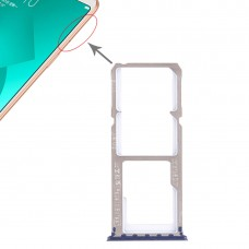 2 x SIM Card Tray + Micro SD Card Tray for OPPO A83(Blue)