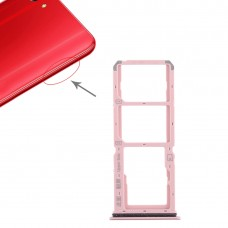 2 x SIM Card Tray + Micro SD Card Tray for Vivo Y83(Red)